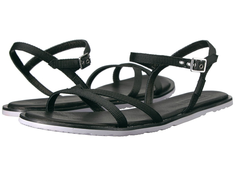 Hunter - Original Web Cross Front Sandal (Black/White) Women's Sandals