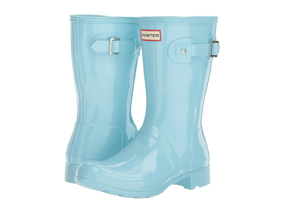 Hunter - Original Tour Short Gloss (Pale Mint) Women's Rain Boots