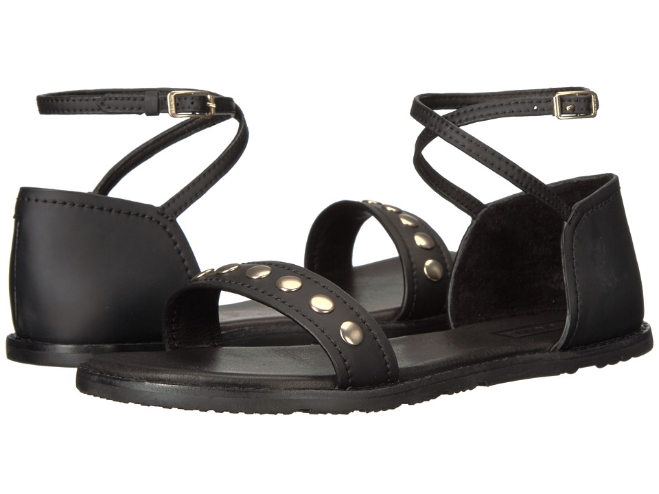 Hunter - Original Leather Studded Sandal (Black) Women's Sandals