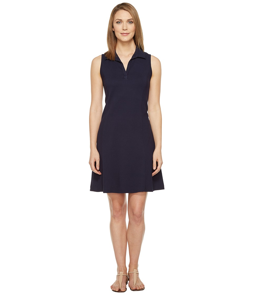 Three Dots Sleeveless Polo Dress (Night Iris) Women