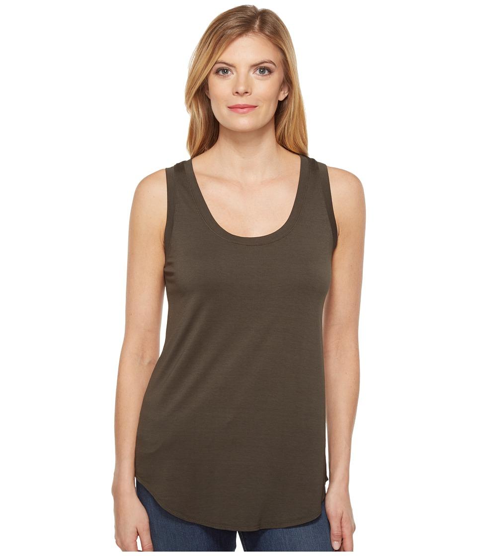 Three Dots - Lightweight Viscose Long Tank (Tapenade) Women's Sleeveless