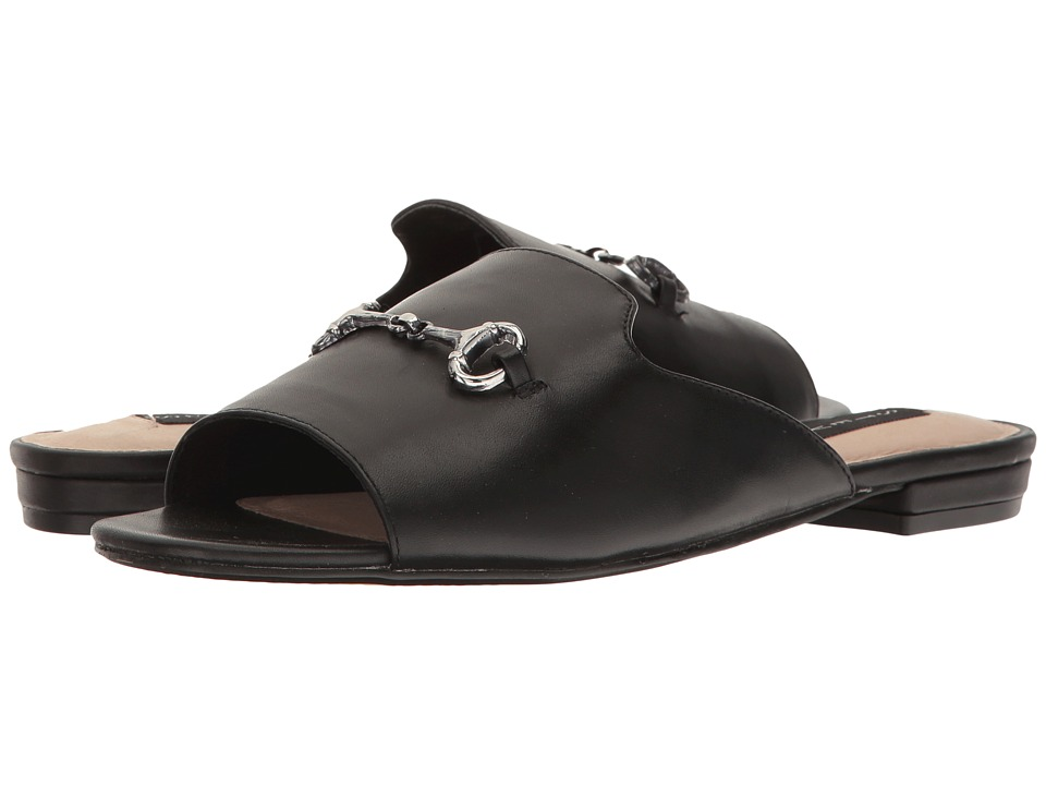 Steven - Fela (Black Leather) Women's Shoes