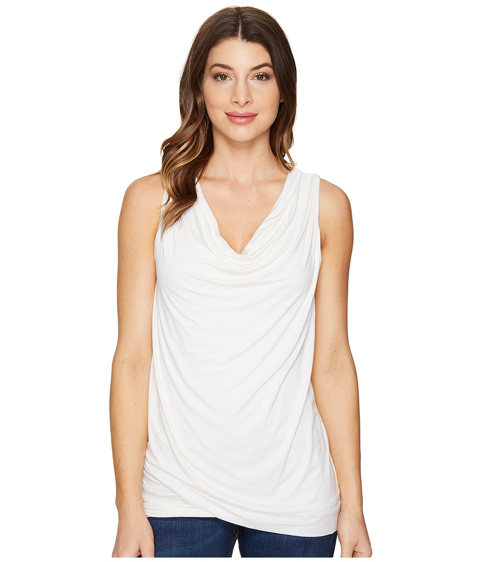 Three Dots - Asymmetric Top (Gardenia) Women's Clothing