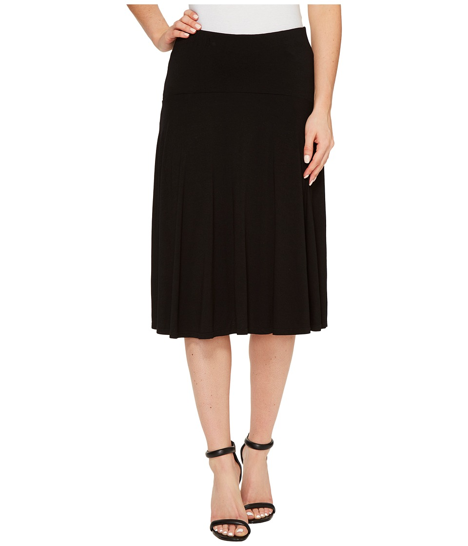Three Dots - Wrap Skirt (Black) Women's Skirt