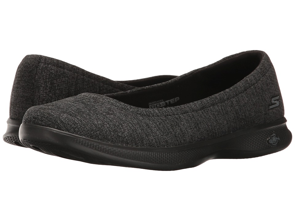 SKECHERS Performance - Go Step Lite - Evoke (Black/Gray) Women's Shoes
