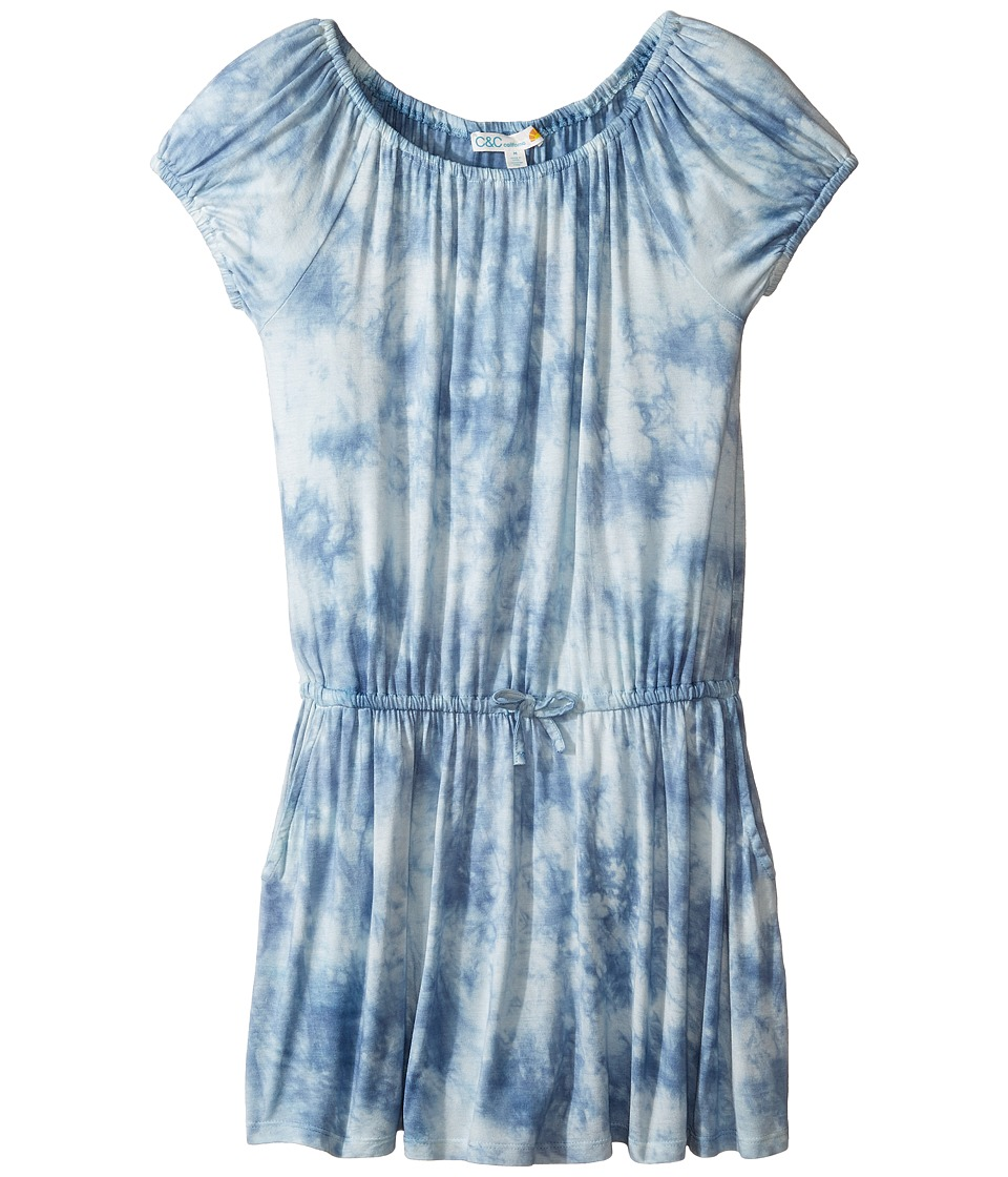 C&C California Kids - Tie-dye Dress (Little Kids/Big Kids) (Sea Blue) Girl's Dress