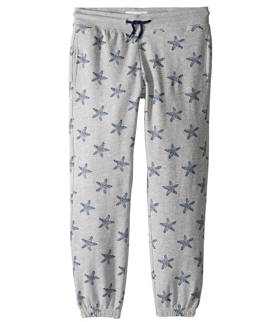 C&C California Kids - Fleece Bottom (Little Kids/Big Kids) (Star Print Light Grey Heather) Girl's Clothing