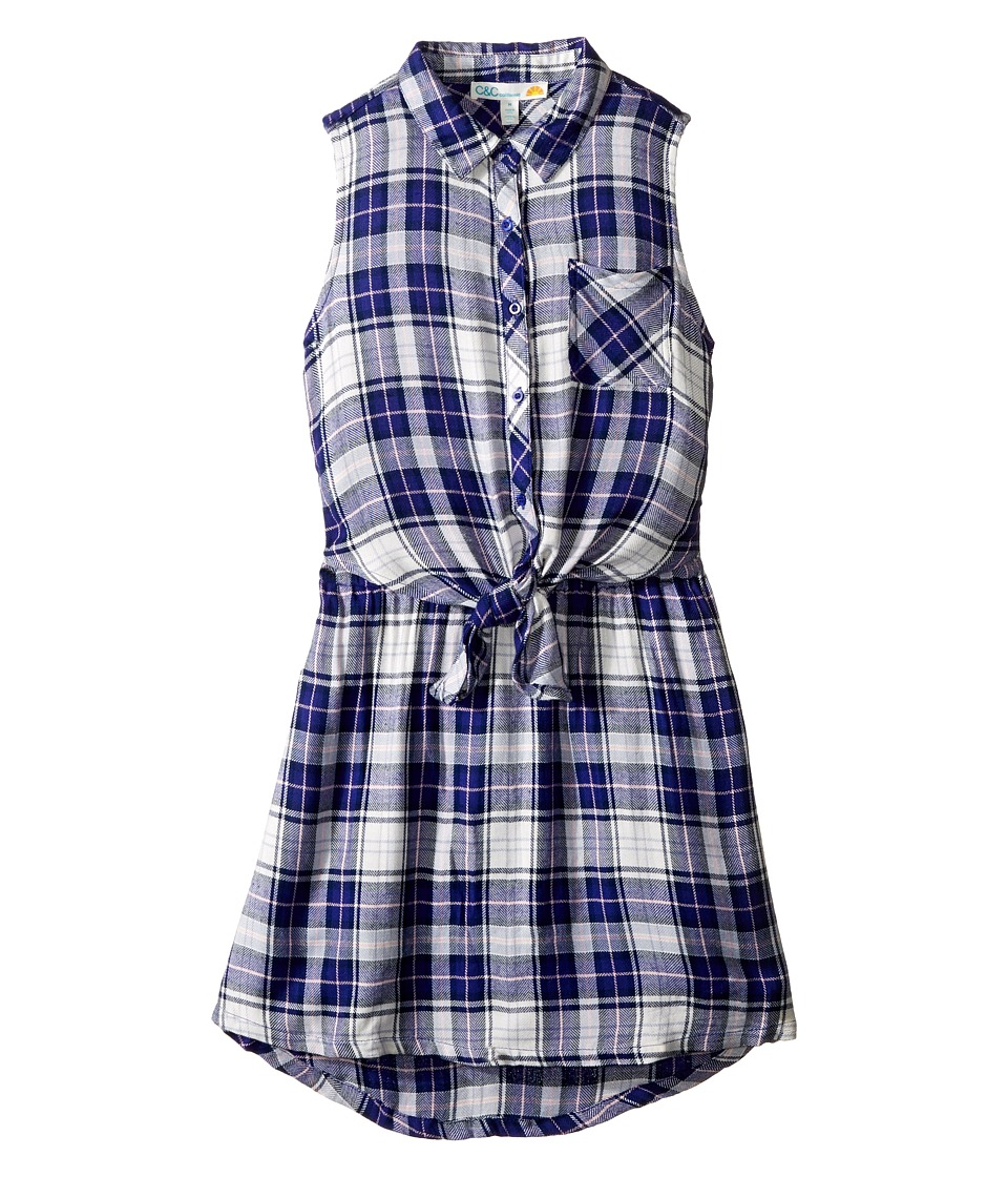 C&C California Kids - Yarn-Dye Woven Dress (Little Kids/Big Kids) (Navy) Girl's Dress