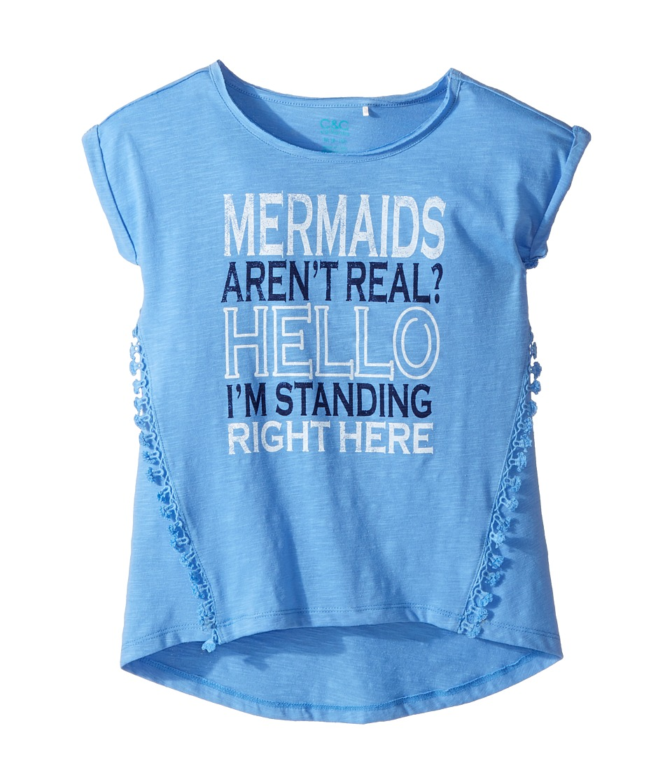 C&C California Kids - Mermaid Top (Little Kids/Big Kids) (Sea Blue) Girl's Clothing