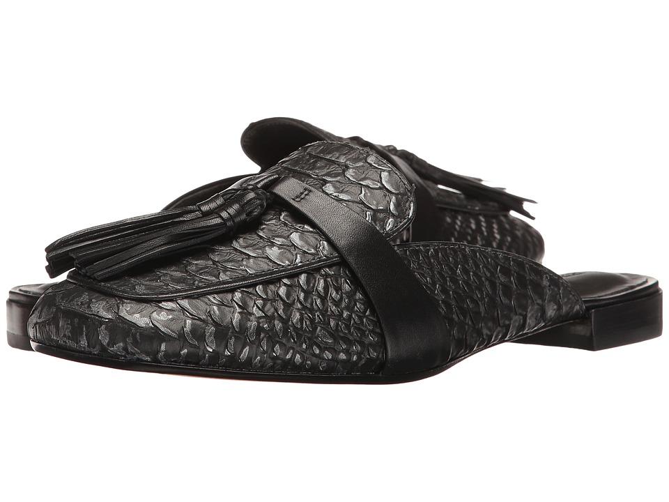 Bernardo - Dori (Black Suede/Snake) Women's Sandals