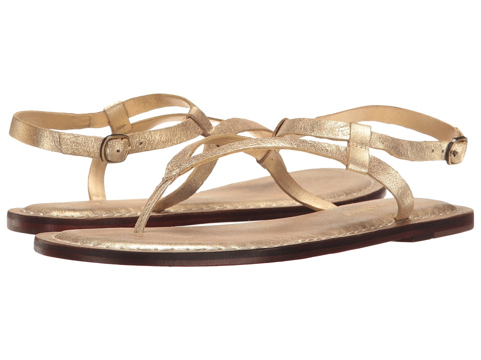 Bernardo - Merit (Gold Metallic Suede) Women's Sandals