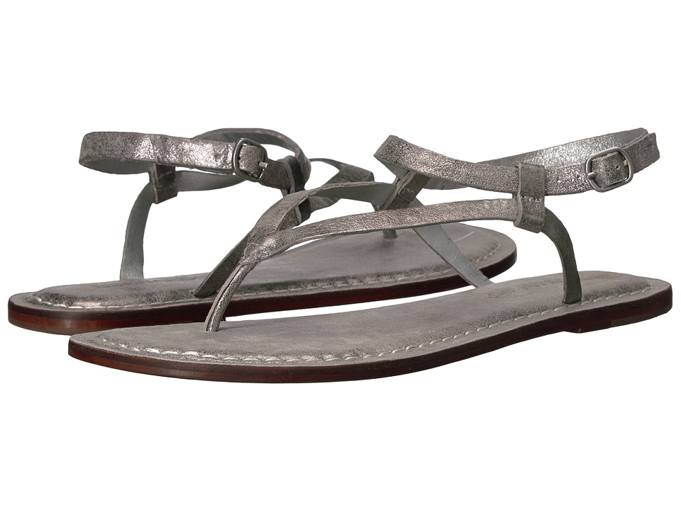 Bernardo - Merit (Silver Metallic Suede) Women's Sandals