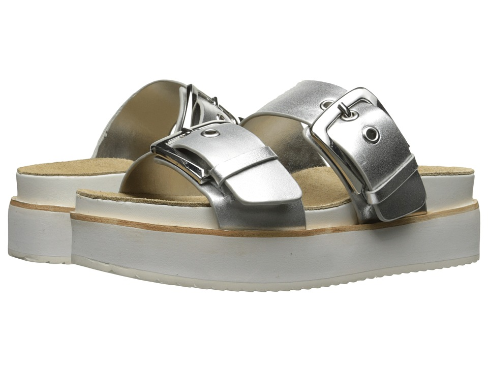 Steve Madden - Pate (Silver Leather) Women's Shoes