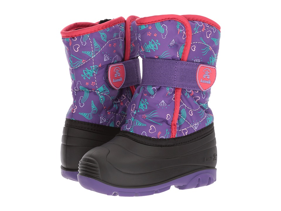 Kamik Kids Snowbug4 (Toddler) (Purple) Girl's Shoes