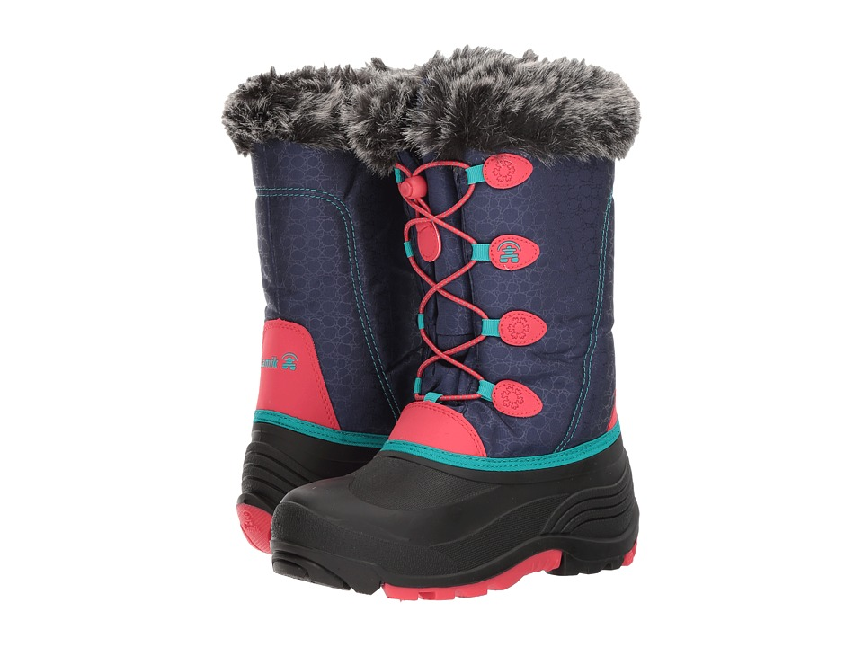 Kamik Kids Snowgypsy (Toddler/Little Kid/Big Kid) (Navy/Rose) Girls Shoes