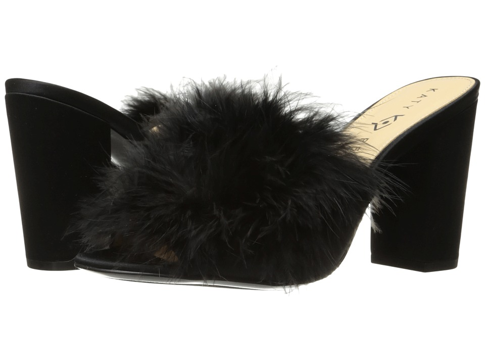 Katy Perry - The Bon-Bon (Black Satin/Feather) Women's Shoes