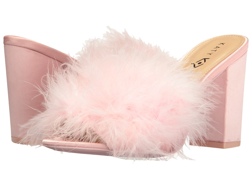 Katy Perry - The Bon-Bon (Baby Pink Satin/Feather) Women's Shoes