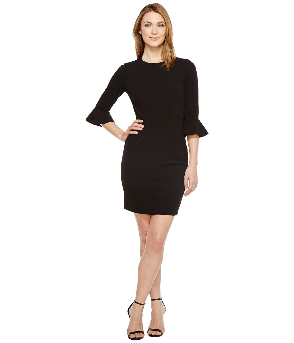 Donna Morgan - 3/4 Bell Sleeve Sheath Dress (Black) Women's Dress