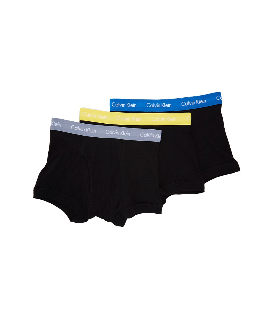 Calvin Klein Underwear - Cotton Classics Trunk 3-Pack NB1119 (Brabdeus/Illumine/Black) Men's Underwear