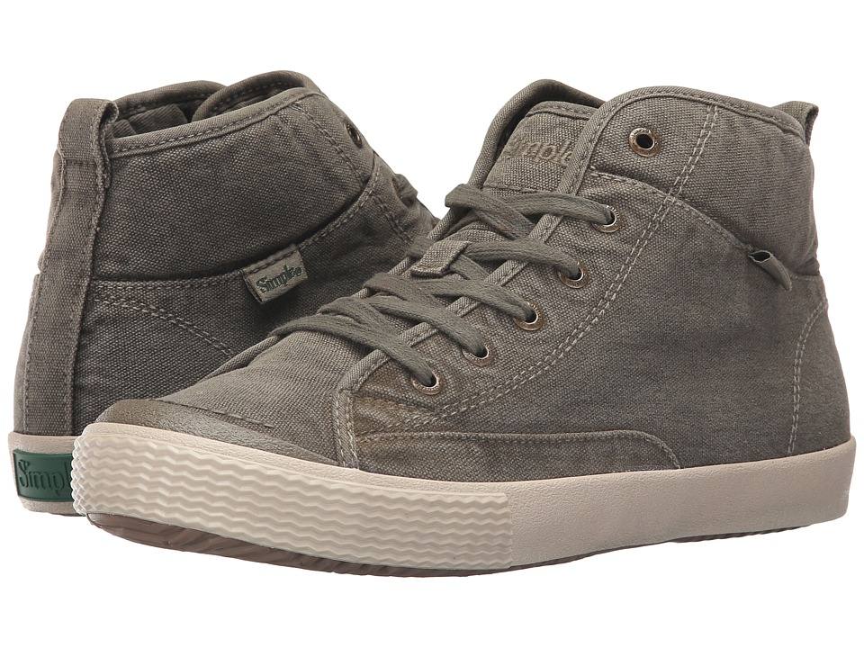 Simple - Waltham (Olive Dye Wash Canvas) Men's Shoes