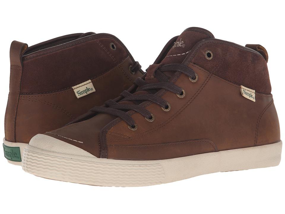 Simple - Waltham (Dark Tan Leather) Men's Shoes