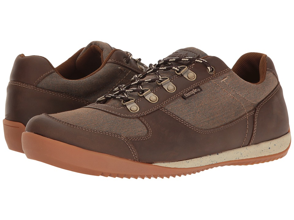 Simple - Altus (Brown Canvas/Brown Leather) Men's Shoes