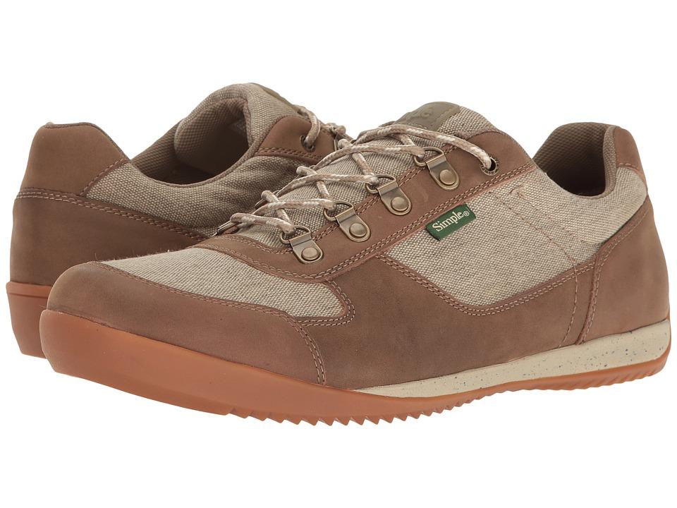 Simple - Altus (Olive Canvas/Tan Leather) Men's Shoes