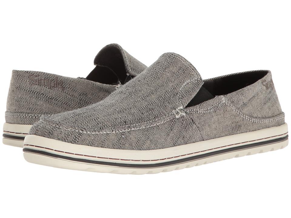 Simple - Dare (Black Reverse Denim) Men's Shoes