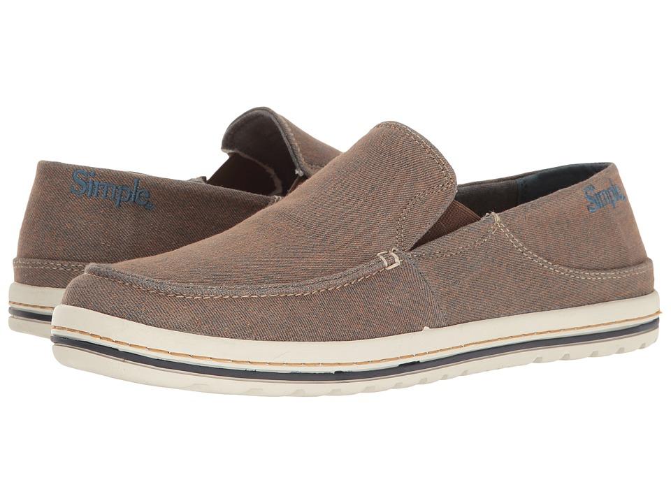 Simple - Dare (Navy/Burnt Orange Denim) Men's Shoes