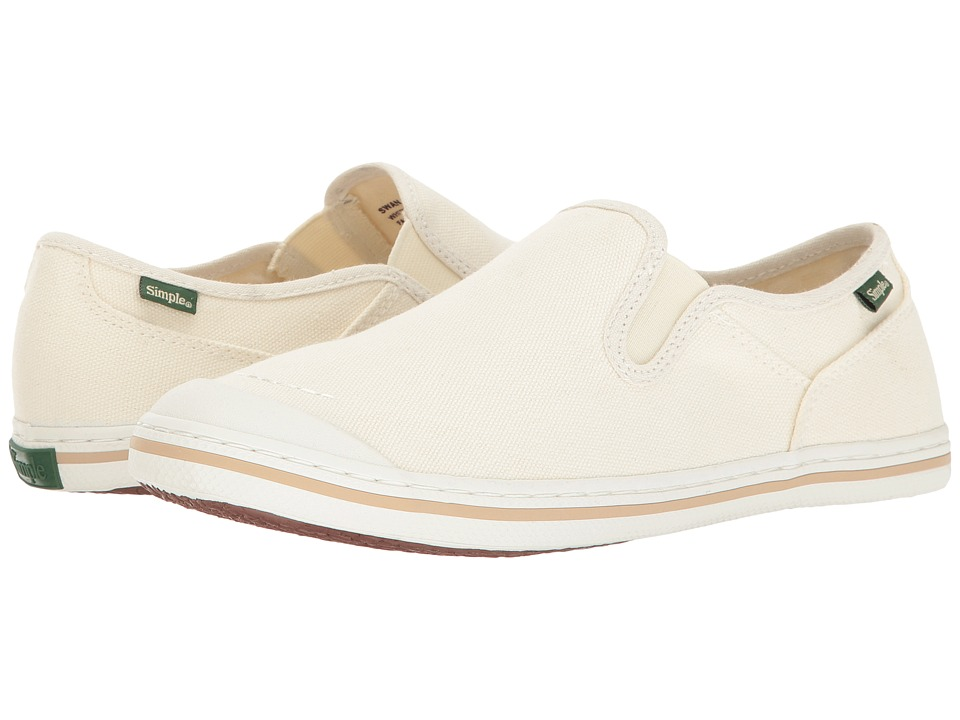 Simple - Swan (White Canvas) Women's Shoes