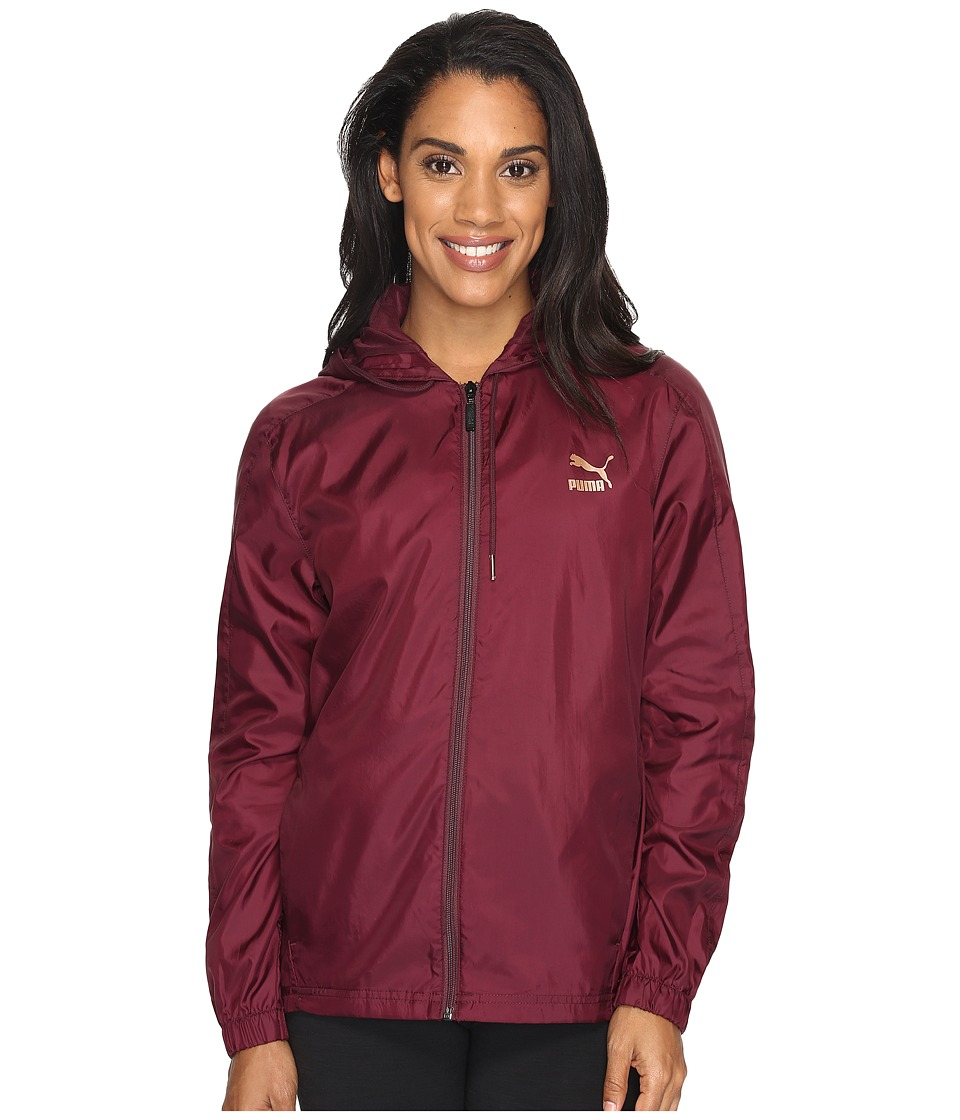 PUMA - T7 Metallic Wind Jacket (Winetasting) Women's Coat