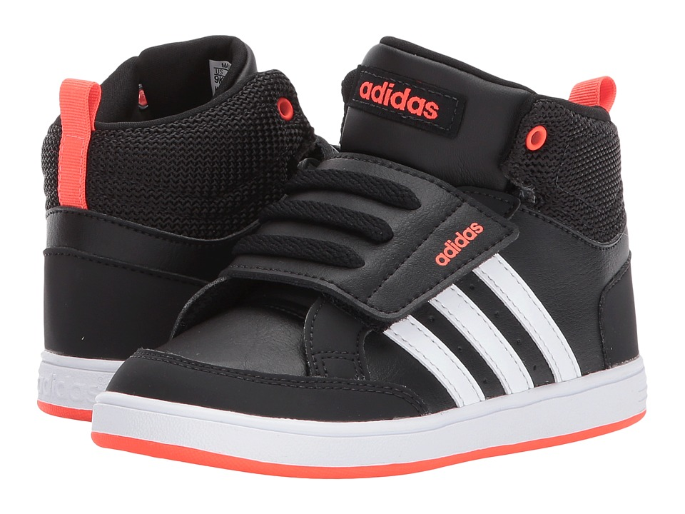 adidas Kids - Hoops Mid (Infant/Toddler) (Black/White/Red) Boys Shoes