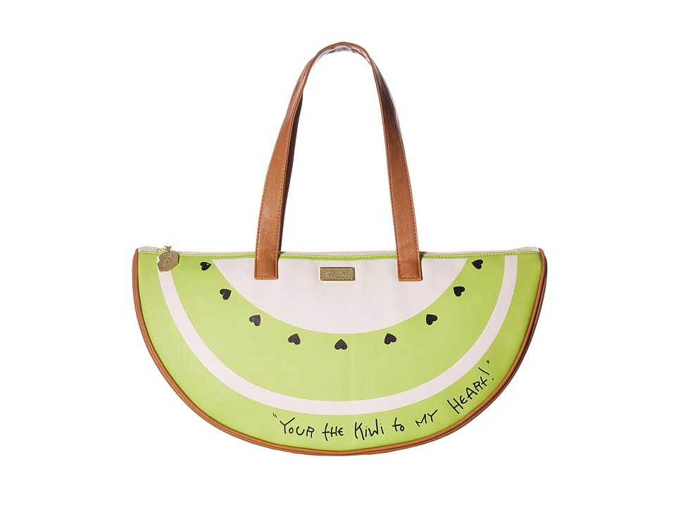 Luv Betsey - Slice PVC Fruit Kitch Cooler (Green) Handbags