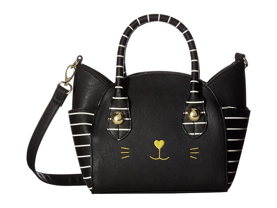 Luv Betsey - Katt PVC Kitch Satchel (Black) Satchel Handbags