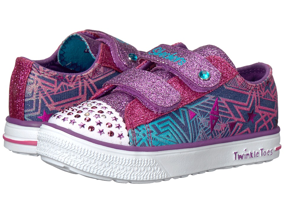 SKECHERS KIDS - Twinkle Breeze - Comet Cutie (Infant/Toddler/Little Kid) (Denim/Multi) Girl's Shoes