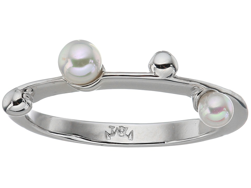 Majorica - Pearls Placed on Sterling Silver Ring (White) Ring