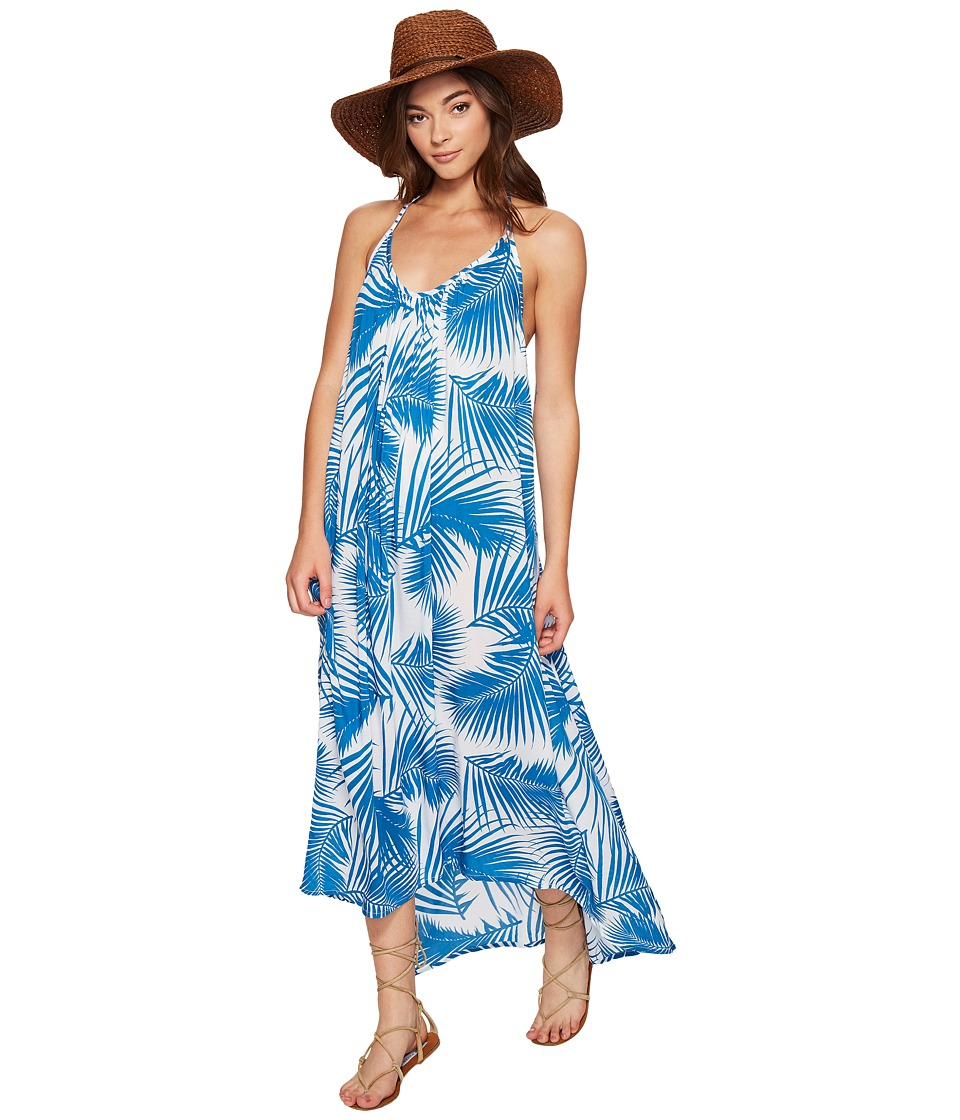 MIKOH SWIMWEAR - Hamptons Maxi Dress (Botanical Aegean) Women's Dress