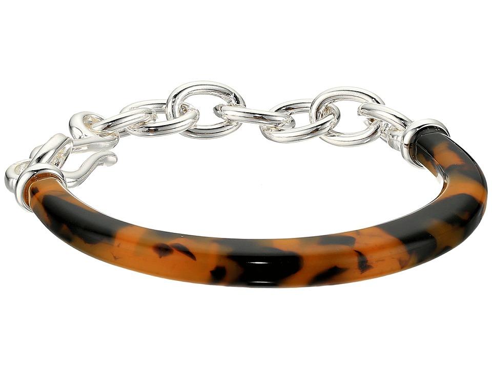 LAUREN Ralph Lauren - 7 1/2 Hard-Soft Bracelet (Silver/Tortoise) Bracelet