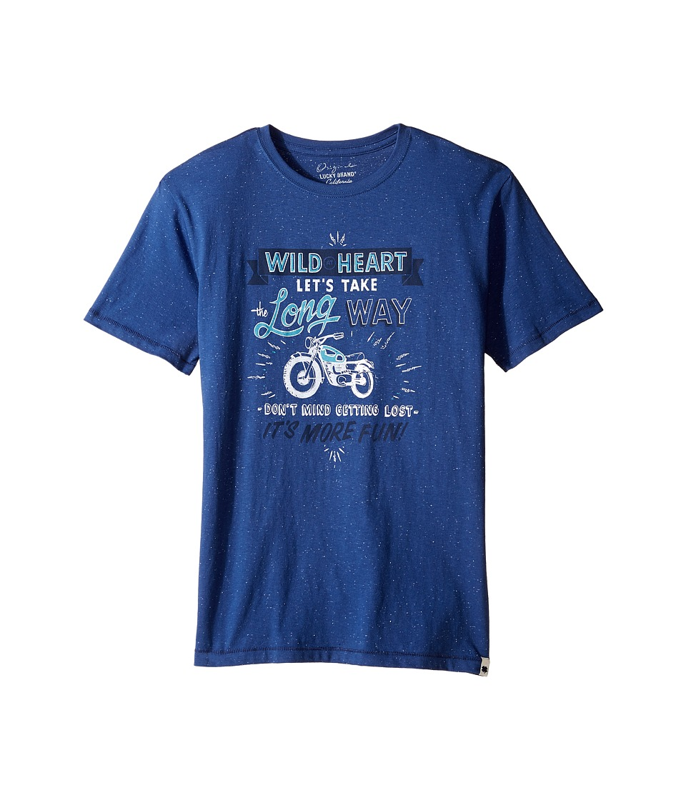 Lucky Brand Kids - Long Way Tee w/ Short Sleeves (Big Kids) (New Blue) Boy's T Shirt