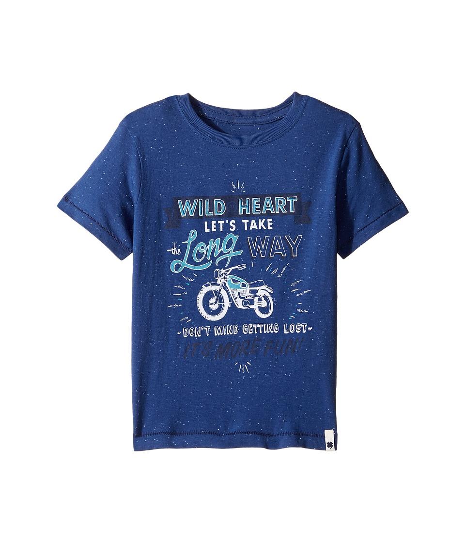 Lucky Brand Kids - Long Way Tee w/ Short Sleeves (Little Kids/Big Kids) (New Blue) Boy's T Shirt