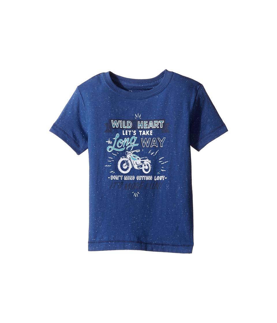 Lucky Brand Kids - Long Way Tee w/ Short Sleeves (Toddler) (New Blue) Boy's T Shirt