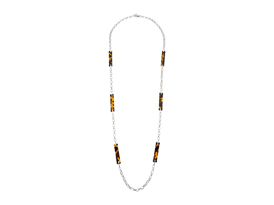 LAUREN Ralph Lauren - 40 Station Link Necklace (Silver/Tortoise) Necklace
