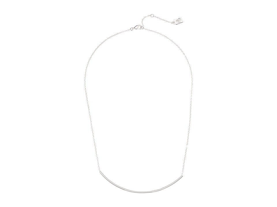LAUREN Ralph Lauren - 16 Frontal Bar Necklace (Silver) Necklace