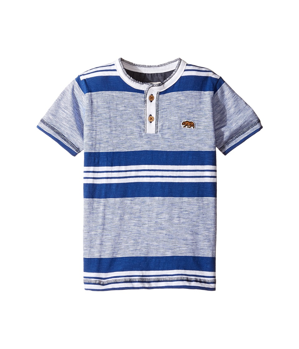 Lucky Brand Kids - Short Sleeve Jetty Henley in Slub Jersey (Toddler) (White) Boy's Short Sleeve Pullover