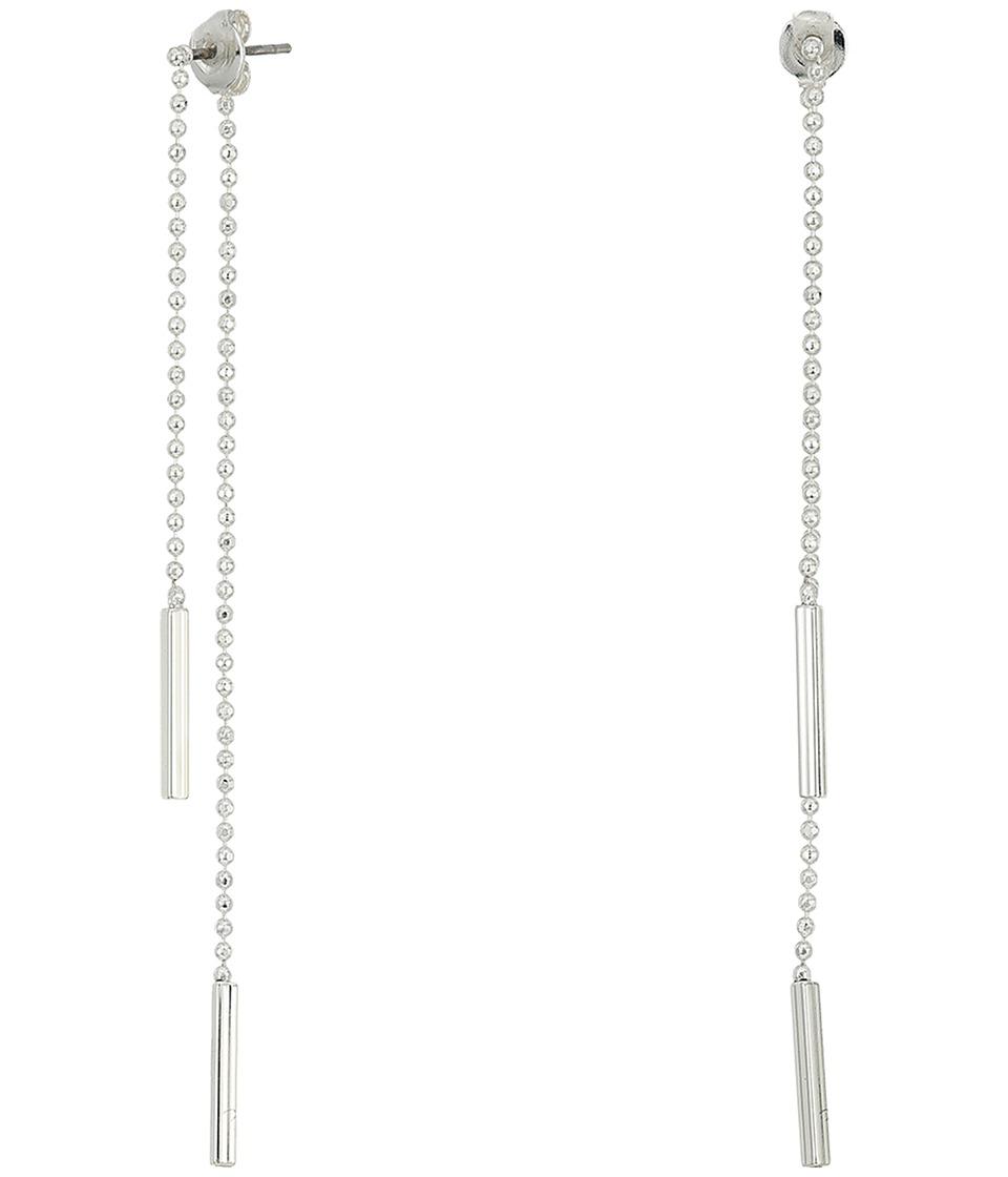 LAUREN Ralph Lauren - Chain and Tube Threader Earrings (Silver) Earring