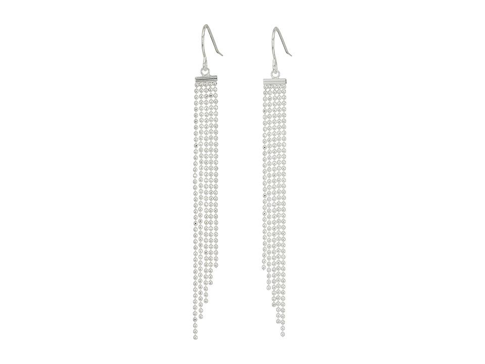 LAUREN Ralph Lauren - Linear Fringe Drop Earrings (Silver) Earring