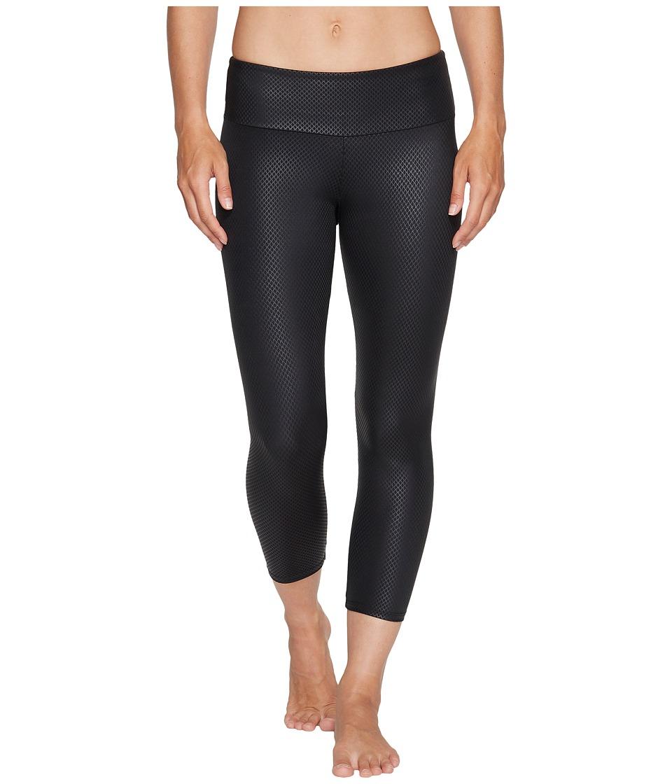 Onzie Capri Pants (Black Fishnet) Women's Casual Pants