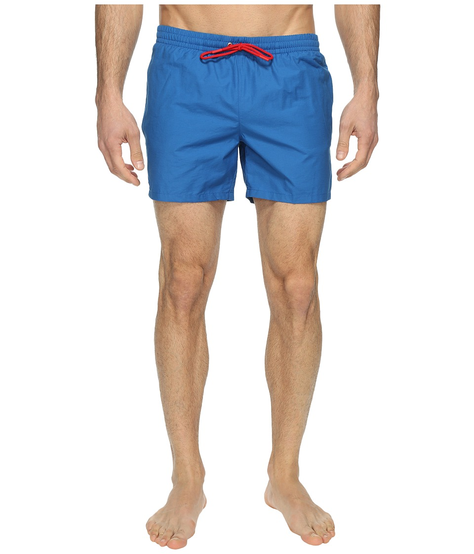 Lacoste - Taffeta Swimming Trunk (Sapphire Blue/Red) Men's Swimwear