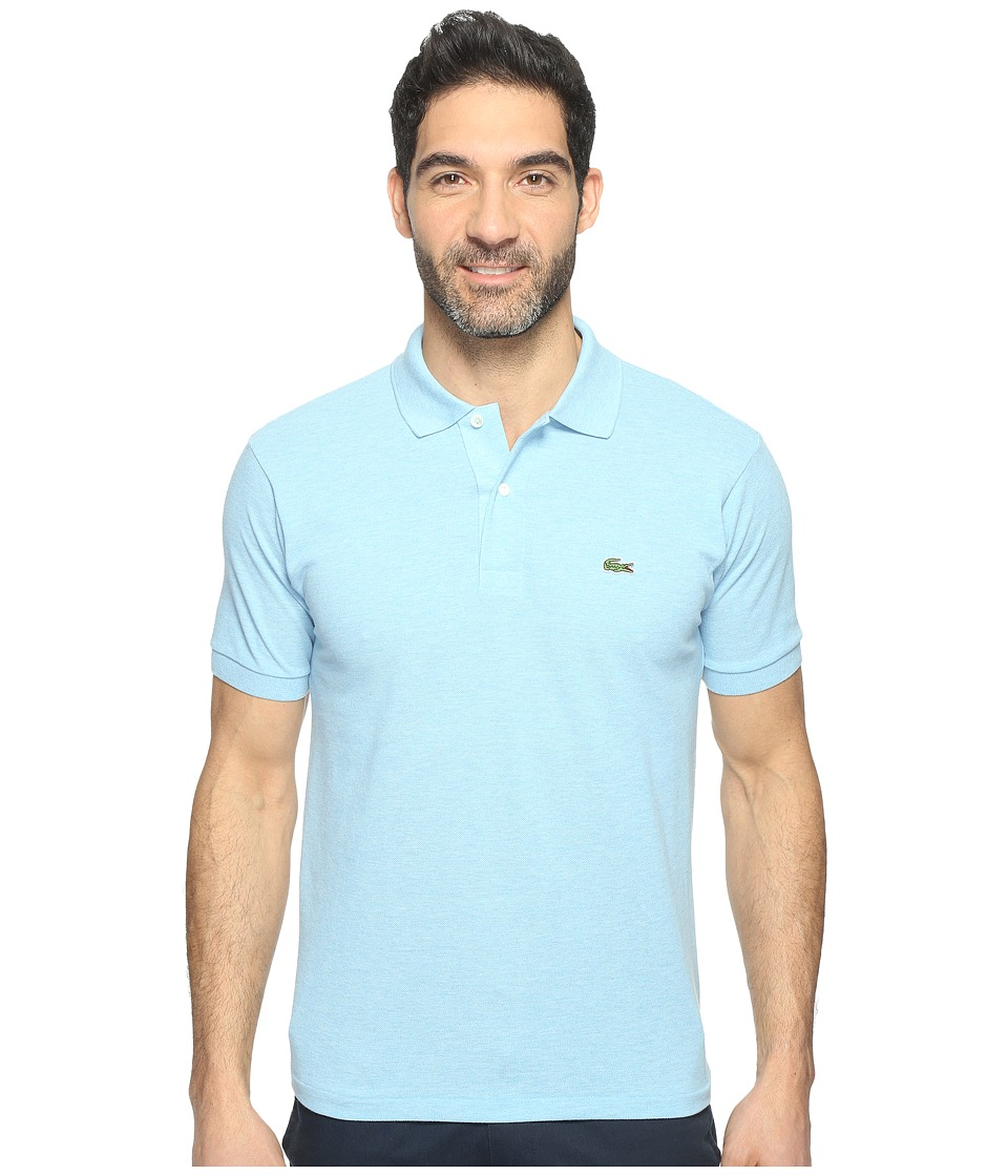 Lacoste - Short Sleeve Original Heathered Pique Polo (Wave Blue Chine) Men's Clothing