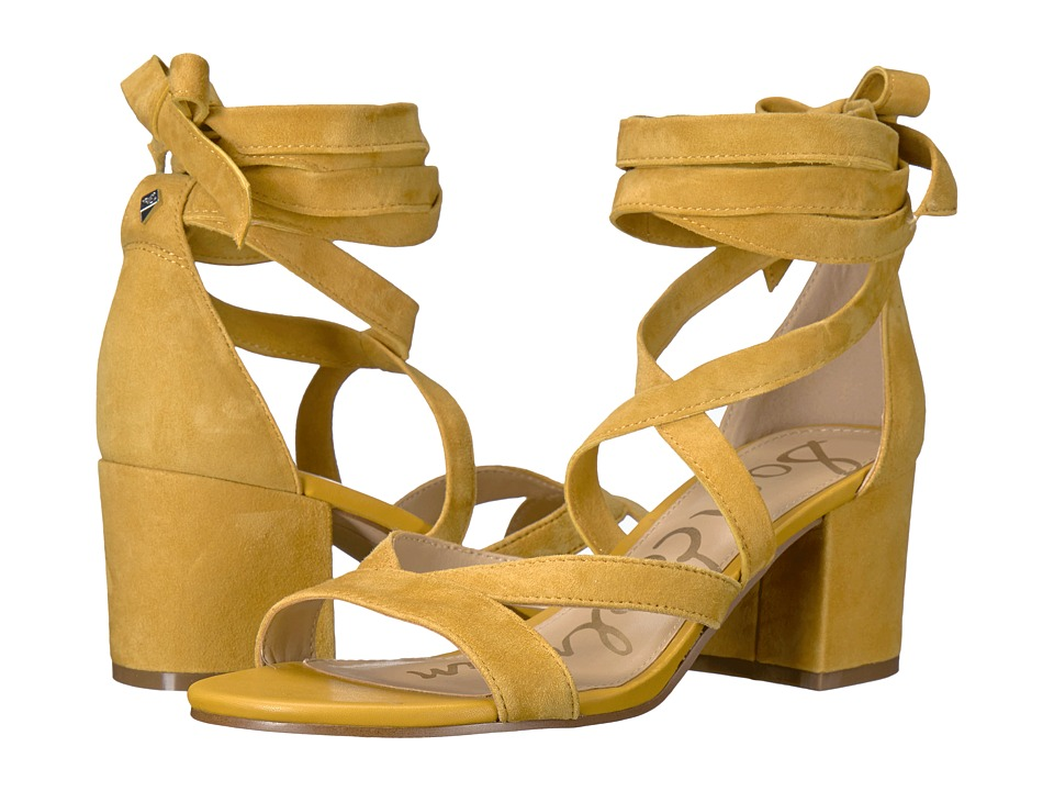 Sam Edelman - Sheri (Sunset Yellow Kid Suede Leather) Women's 1-2 inch heel Shoes